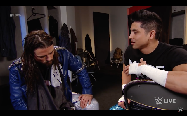 WWE Monday Night Raw TJ Perkins Brian Kendrick Segment Cruiserweight Division