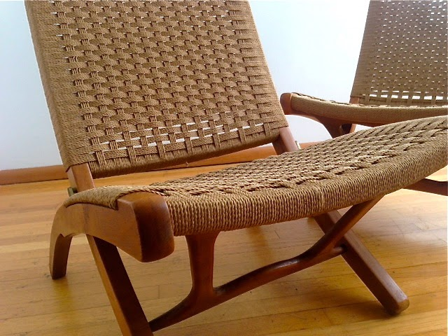 Terrific Sparklebarn Pair Of Mid Century Hans Wegner Style Rope Chairs Ocoug Best Dining Table And Chair Ideas Images Ocougorg