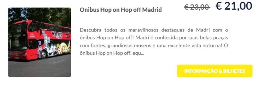 Madri - compre ingressos on-line para as atrações - Ônibus Hop on Hop off Madrid - Ticketbar