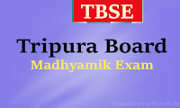 tbse madhyamik routine 2018 - tbse.in