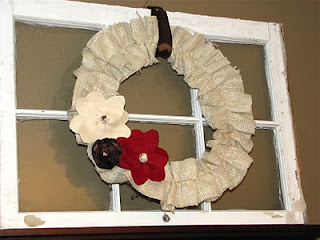 how to make a burlap ruffle wreath for fall