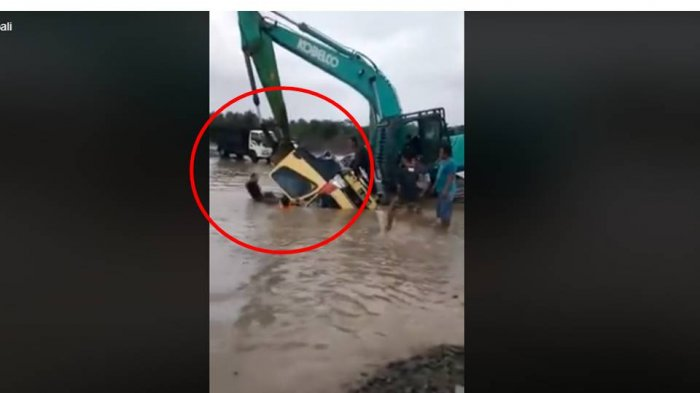 VIDEO Berurai Air Mata Detik-detik Evakuasi Sopir Terjebak di Dalam Truk Tenggelam di Kulonprogo