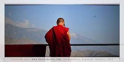 Buddhist monk in India