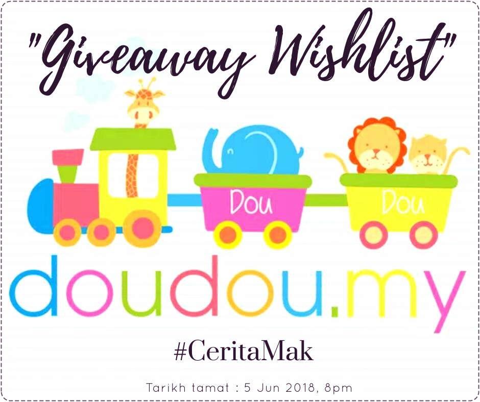 Giveaway DouDou.my X #CeritaMak.