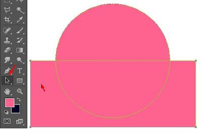 pertemuan kali ini sobat kan dilatih untuk menciptakan bentuk vektor Cara Membuat Logo Setengah Lingkaran Di Photoshop