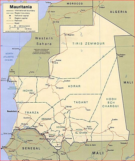 image: Mauritania political Map