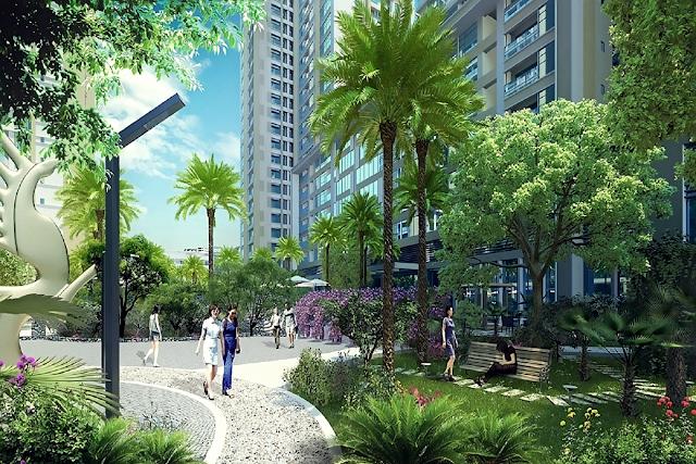 không gian xanh tại chung cư Vinata