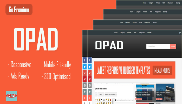 OPAD: Responsive Blogger Template