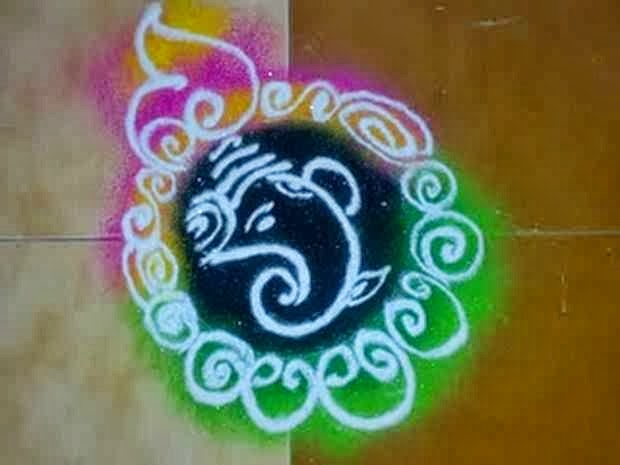 ganesh rangoli designs for diwali 2017 best ganesha