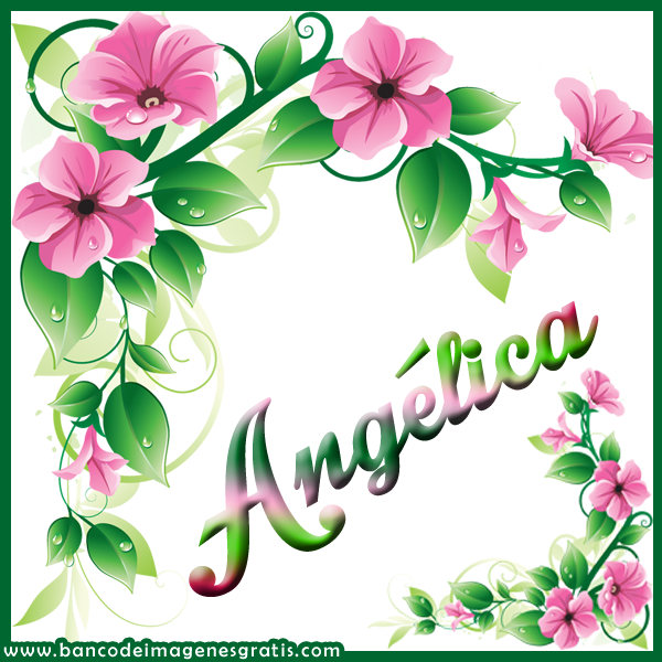 Banco De Imagenes 50 Postales Con Flores De Colores Y Nombres De