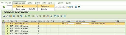 Debugging SAP