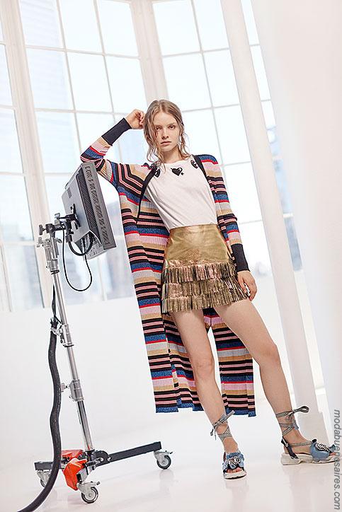 Moda verano 2018 ropa de mujer. Moda 2018 sacos largos de moda.