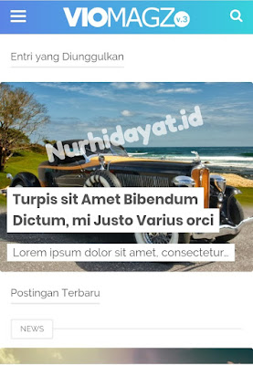 Template Viomagz V.3.1 Premium Gratis