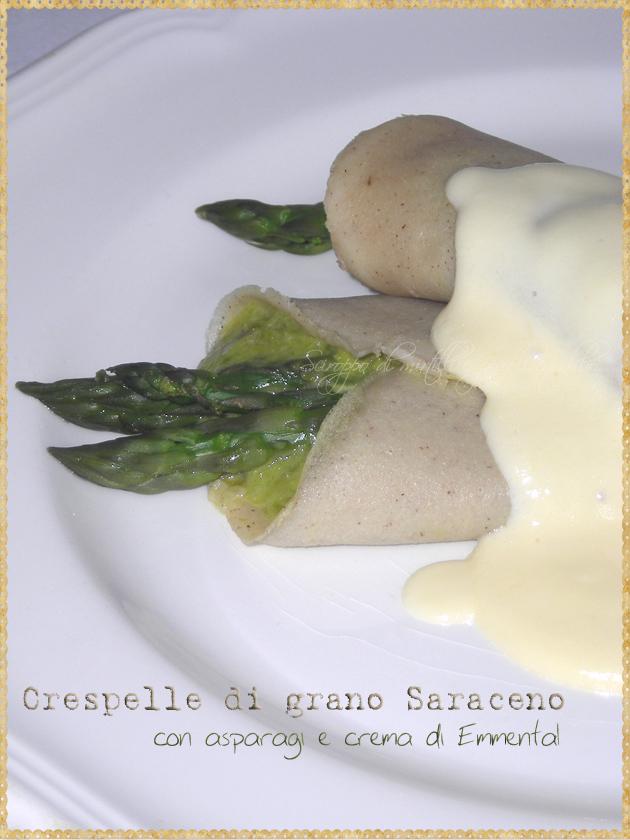 Crespelle di grano Saraceno con asparagi e crema di Emmental