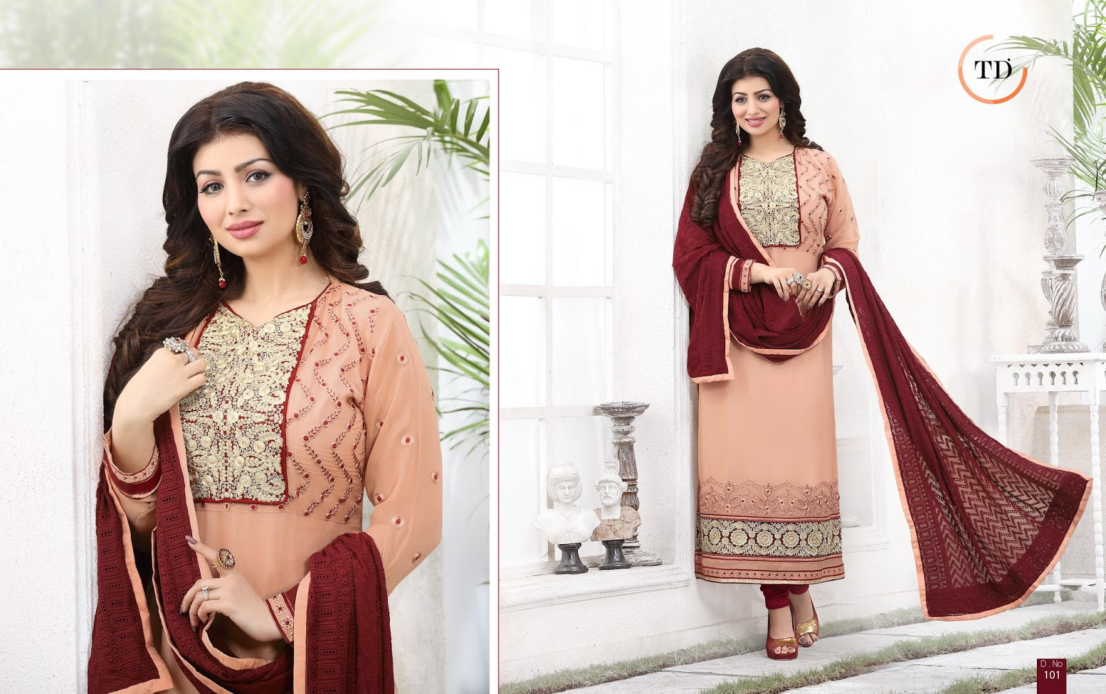 Spykar's – Pure Gorgette Designer Straight Long Salwar Suit