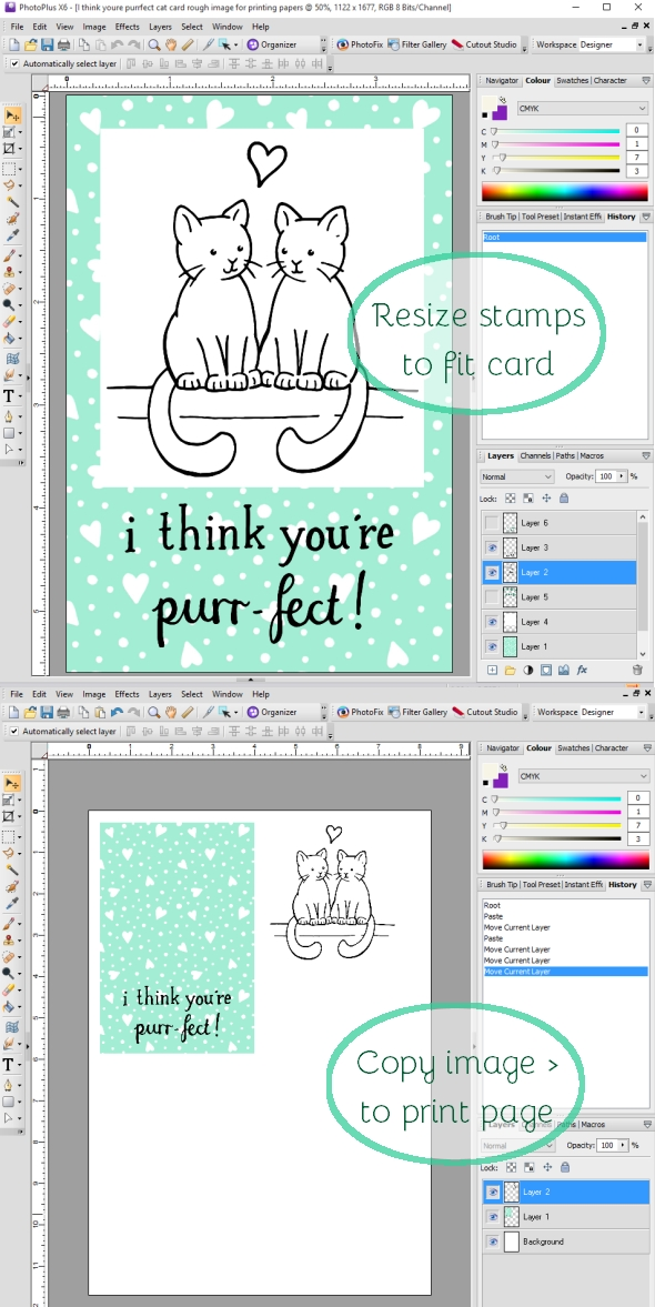 I think your're Purr-fect cat Valentine's Day card tutorial hazelfishercreations