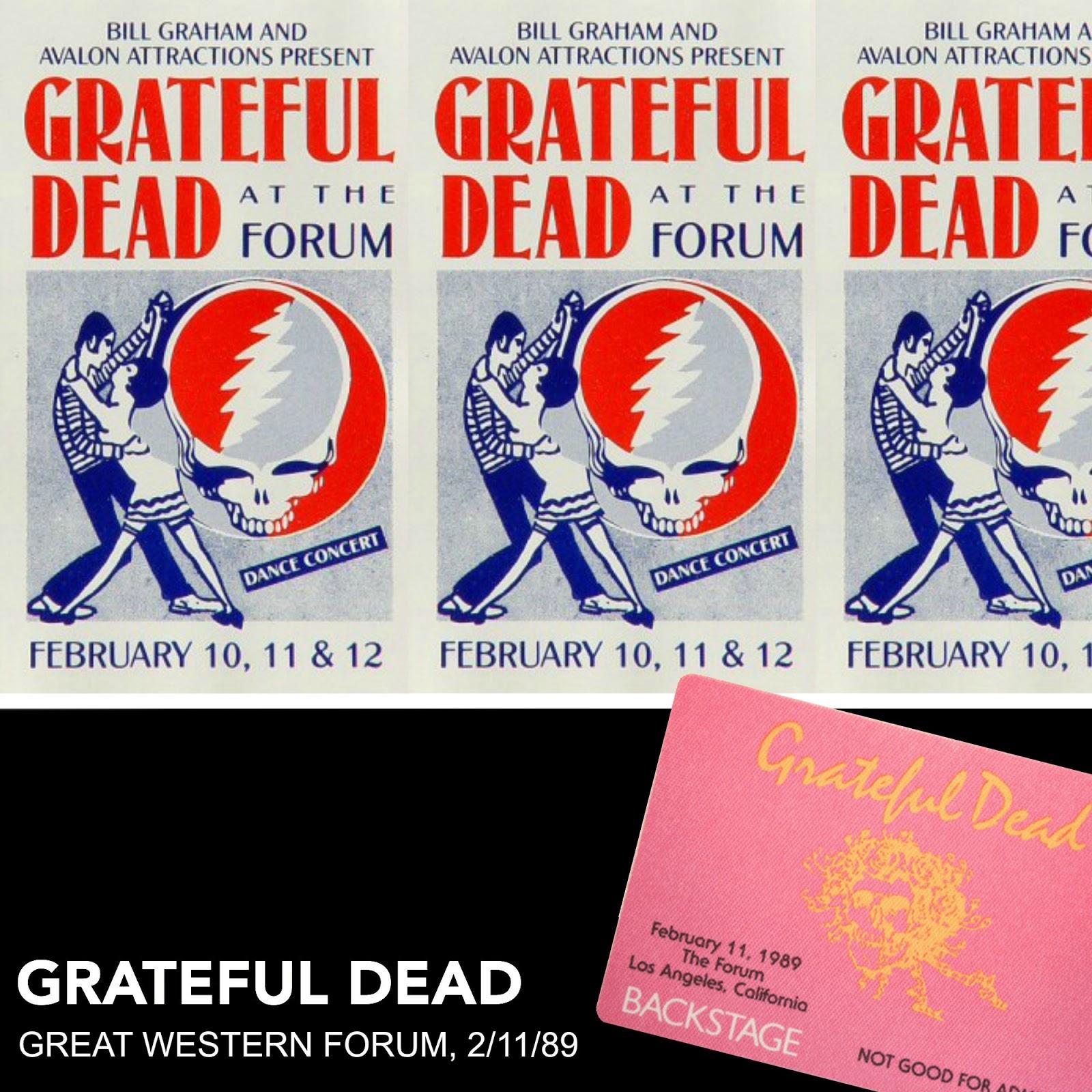 Custom Grateful Dead Cover Art 1989: (Dick's Picks/Trader's Vault/Archival)  styled Cover Art
