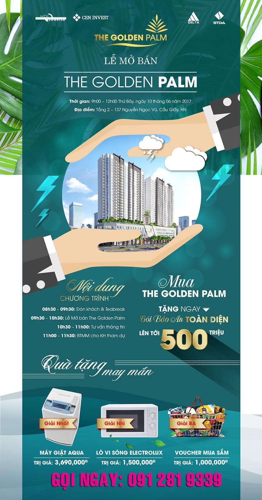 Mở bán chung cư The Golden Palm tháng 6/2017