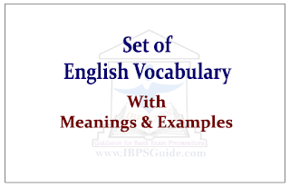 Set of English Vocabulary
