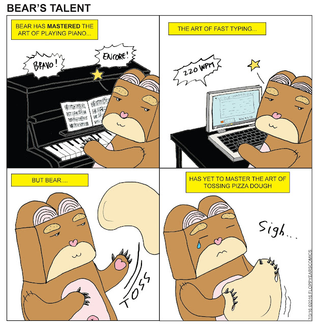 bear's talent, floppy ears comics, comics, comic strip