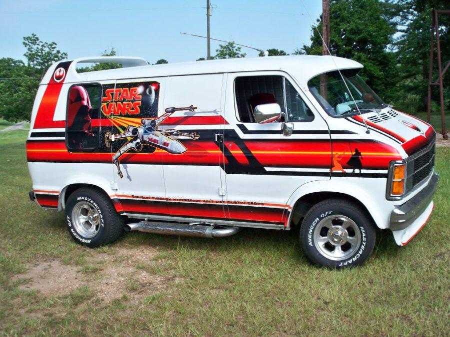 OMG! For Sale: 1979 Customized STAR WARS Themed Dodge Ram Van