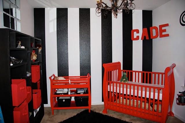 Dormitorios de beb en blanco rojo y negro ideas para - Decoracion blanco negro rojo ...