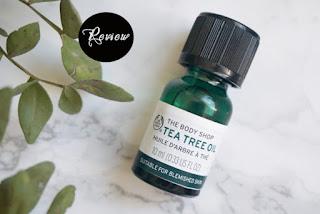 Tinh dầu trị mụn Tea Tree Oil The Body Shop webtretho review