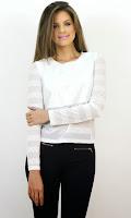 Bluză Semi-Transparentă cu Dungi
