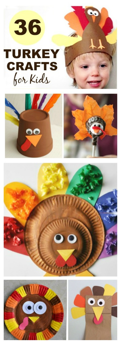 36 ADORABLE TURKEY CRAFTS FOR KIDS- so many fun ideas! Pin! #thanksgivingcraftsforkids #turkeycrafts #turkeycraftspreschool #turkeycraftsforkids #turkeycraftsfortoddlers