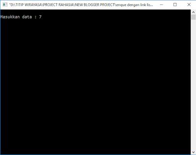 Contoh Aplikasi Pemograman C Enque dan Deque dengan Linked List