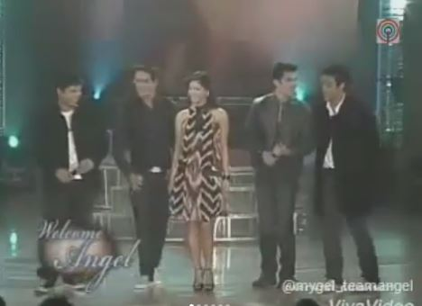 Throwback To The Day The Male Artists In ABS-CBN Have Welcomed Angel Locsin To The Network