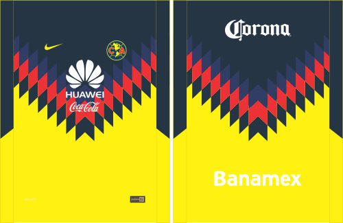 Dise os vectores y m s club am rica 2017 camiseta for Cuarto kit del america 2018