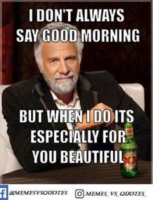 Always say good morning
