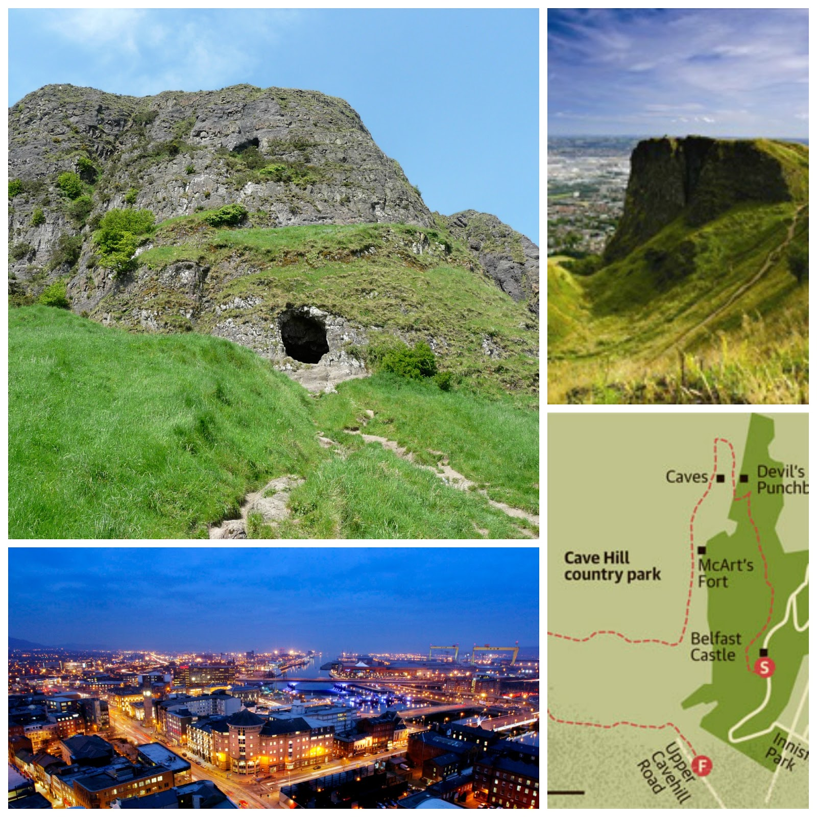 Romantic Places Northern California: Most Haunted Places In UK: Cave Hill, Belfast
