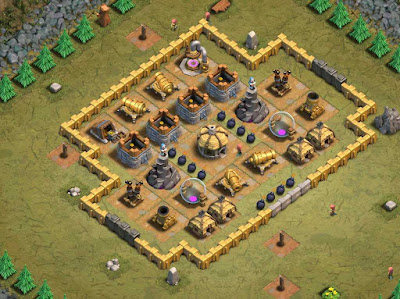 "Base Goblin Map ""34. Chimp in Armor"" Clash of Clans"