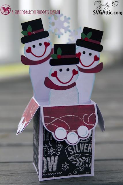Snowman box card