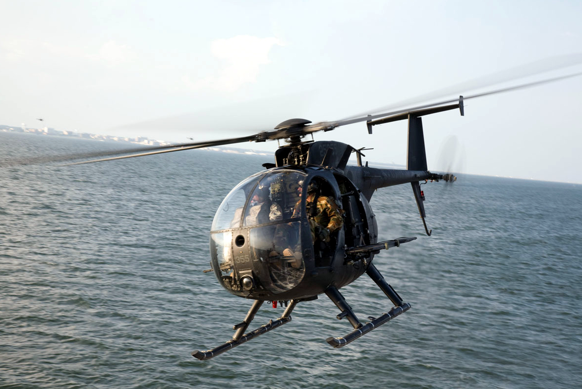 US Army MH-6 The Little Bird Cruising Coastline