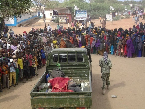 Dreaded Terrorists Display Corpses of Slain Soldiers (Graphic Photos)