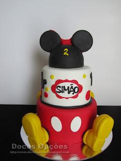 Bolo Mickey e Minnie para o aniversário dos gémeos