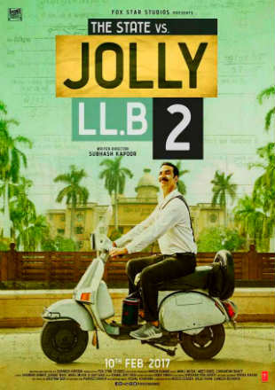 Poster of Jolly LLB 2 2017 Full Hindi Movie Download Hd 400Mb