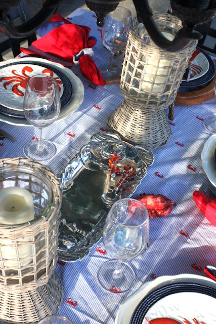 An Accomplished Woman Crab Boil Table