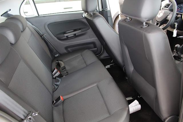 Novo VW Gol 2019 - espaço traseiro