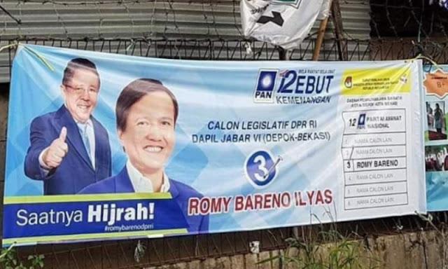 Pasang Foto Sang Ayah di Baliho Pencalegan, Putra Karni Ilyas Dibully Netizen