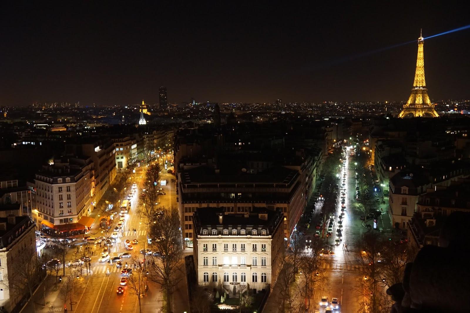 エトワールの凱旋門(Arc de triomphe de l'Étoile) 展望台からの眺め3