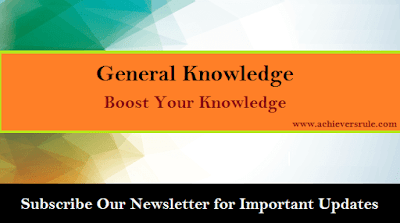 General Knowledge Quiz For SSC CGL - Set 21