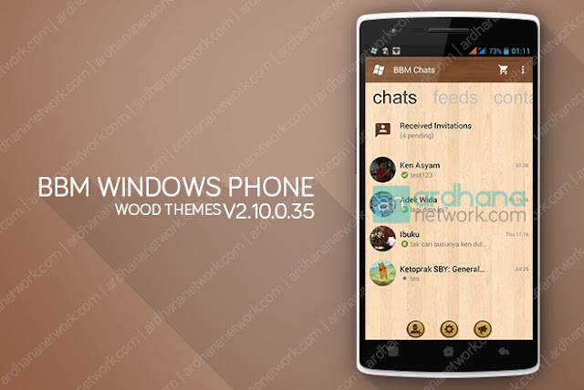 BBM Windows Phone Wood - BBM Android V2.10.0.35