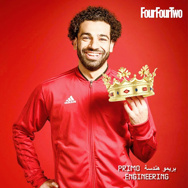 mo salah wear a tag of the egyptian king