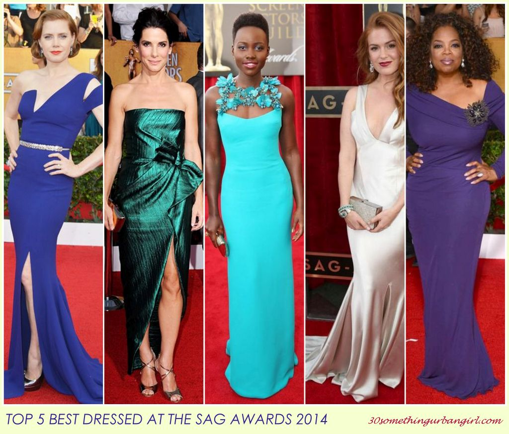 top 5 best dressed at the SAG Awards 2014