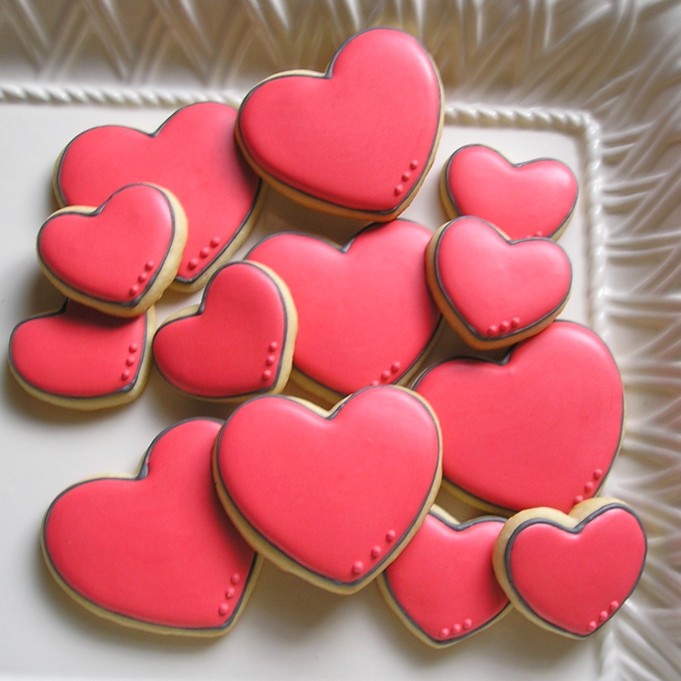 Decorated Heart Cookies Pinterest