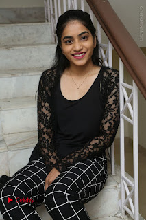 Actress Punarnavi Bhupalam Stills in Black Dress at Pittagoda Press Meet  0095.JPG